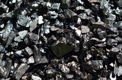 Enriched coal anthracite. Royalty Free Stock Photography