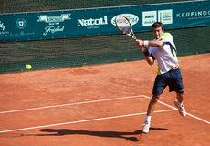 Enrico Burzi playing at ATP Genoa Open Royalty Free Stock Photography