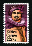 Enrico Caruso US Postage Stamp Stock Images