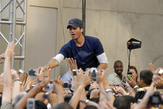Enrique Iglesias performing live. Royalty Free Stock Images