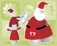 Enrolamento acima de Santabot Imagem de Stock Royalty Free