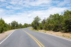 Enrolamento Asphalt Road Imagens de Stock