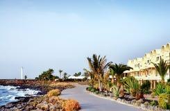 Frente marítima em BLANCA de Playa, Ilhas Canárias imagem de stock royalty free