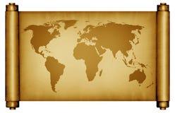 Enrole o mapa Imagens de Stock
