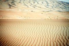 Enrole testes padrões criados nas dunas de areia de oásis de Liwa, Emiratos Árabes Unidos Foto de Stock