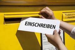 Enroll german Royalty Free Stock Photos