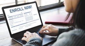 Enroll Now Registration Membership Concept royalty free stock photos