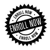 Enroll now stamp Stock Image