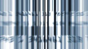 Enrollamiento azul de los códigos de barras de la información de datos metrajes
