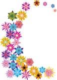 Enrollamiento brillante abstracto de la flor del color ilustración del vector