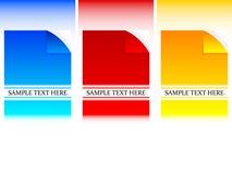 Enrollamiento del papel del vector con el texto de la muestra Fotos de archivo