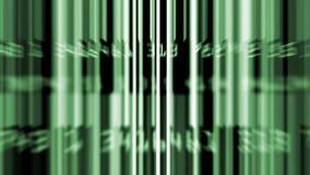 Enrollamiento verde de los códigos de barras de la información de datos almacen de video