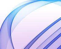 Enrollamientos brillantes azules claros Ilustración del Vector