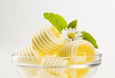Enrollamientos de la mantequilla Imagen de archivo libre de regalías