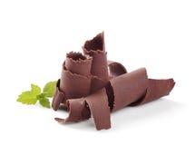 Enrollamientos del chocolate imagen de archivo