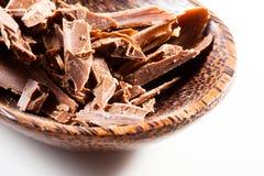 Enrollamientos del chocolate Fotos de archivo