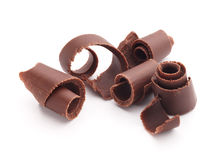 Enrollamientos del chocolate foto de archivo libre de regalías