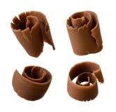 Enrollamientos del chocolate Fotos de archivo libres de regalías