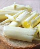 Enrollamientos y pan de la mantequilla Imagen de archivo libre de regalías