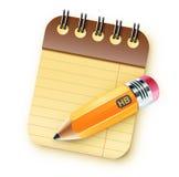 Enrolle el cuaderno encuadernado stock de ilustración