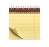 Enrolle el cuaderno encuadernado Imagenes de archivo