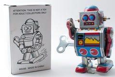 Enrolle para arriba el robot Imagen de archivo libre de regalías