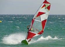 Enrolle practicar surf Foto de archivo
