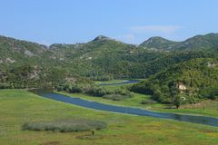 Rivière d'enroulement dans Montenegro Photo libre de droits
