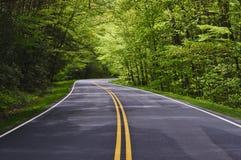 enroulement de route Photos libres de droits