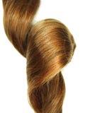 Enroulement gingery foncé brillant de cheveu Photographie stock libre de droits