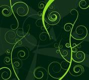 Enroulements abstraits de vert illustration stock