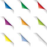 Enroulements de page de couleur Photo libre de droits