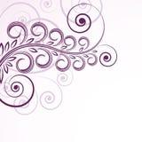 Enroulements floraux abstraits. Image libre de droits