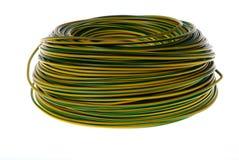 Enrouleur de câbles jaune et vert Images libres de droits