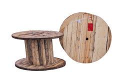 Enrouleurs de câbles en bois Image stock