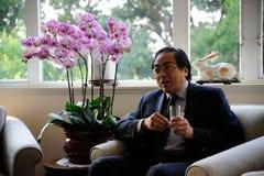 Enroulez-Chee Tsui, vice-président du HKU Images stock