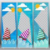 Enroulez l'été de table Images stock