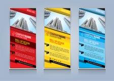 Enroulez l'illustration de vecteur de conception de calibre de bannière Photos libres de droits