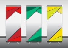Enroulez la bannière, infos, couleur, la publicité, présentoir Photo stock