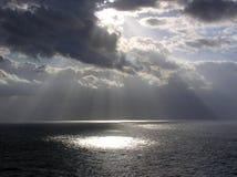 enroute神发出光线圣托马斯 库存图片