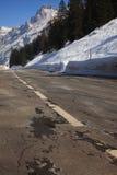 Enroute alle alpi Fotografie Stock