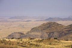 Enroute from Windhoek to Solitaire stock image