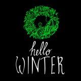 Enrruelle el año nuevo h del invierno de la celebración de la decoración del vector de la Navidad stock de ilustración