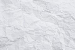 Enrugue o fundo de papel branco ou cinzento da textura dos testes padrões imagem de stock