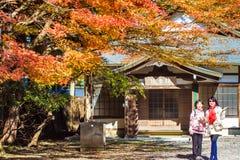 Enryaku籍是登上的Tendai修道院Hiei位于大津, 图库摄影
