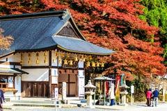 Enryaku-ji är en Tendai kloster som lokaliseras på monteringen Hiei i Otsu, arkivbilder