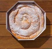 Ensaimada典型从马略卡马略卡面包店 免版税图库摄影