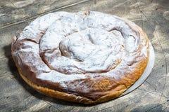 Ensaimada,蛋糕特点马略卡 免版税库存图片
