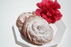 Ensaimada -西班牙人蛋糕 免版税库存照片