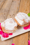 Ensaimada ice cream sandwich Royalty Free Stock Photo